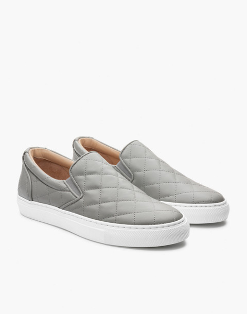 GREATS® Wooster Quilted Leather Slip-On Sneakers in gray image 1