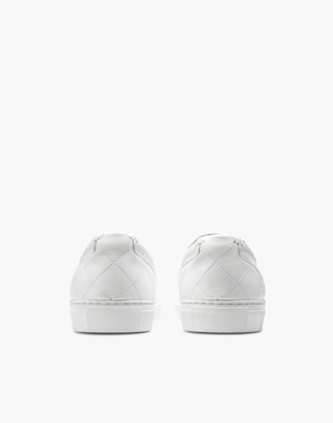 GREATS® Wooster Quilted Leather Slip-On Sneakers in white image 3