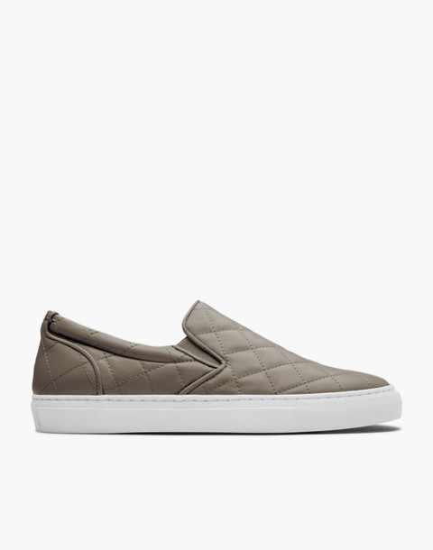 GREATS® Wooster Quilted Leather Slip-On Sneakers in green image 2