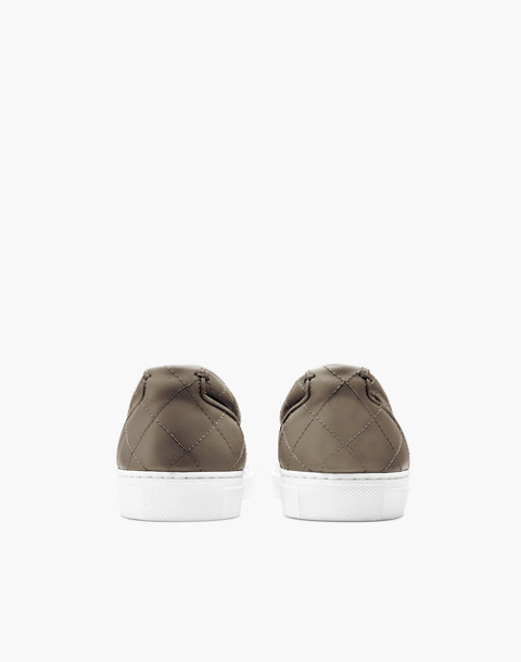 GREATS® Wooster Quilted Leather Slip-On Sneakers in green image 3