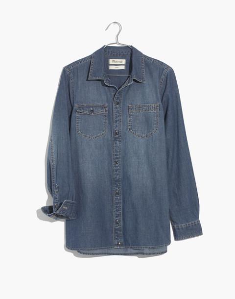 Denim Classic Ex-Boyfriend Shirt in Kylemore Wash in kylemore wash image 4