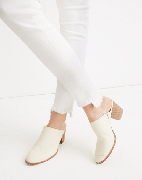 """10"""" High-Rise Skinny Jeans in Pure White: Step-Hem Edition in pure white image 2"""