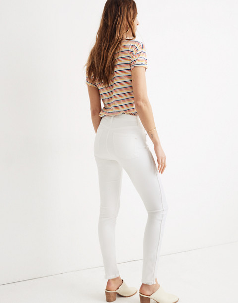 """10"""" High-Rise Skinny Jeans in Pure White: Step-Hem Edition in pure white image 3"""