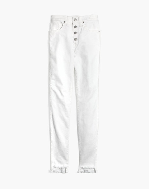"""10"""" High-Rise Skinny Jeans in Pure White: Step-Hem Edition in pure white image 4"""