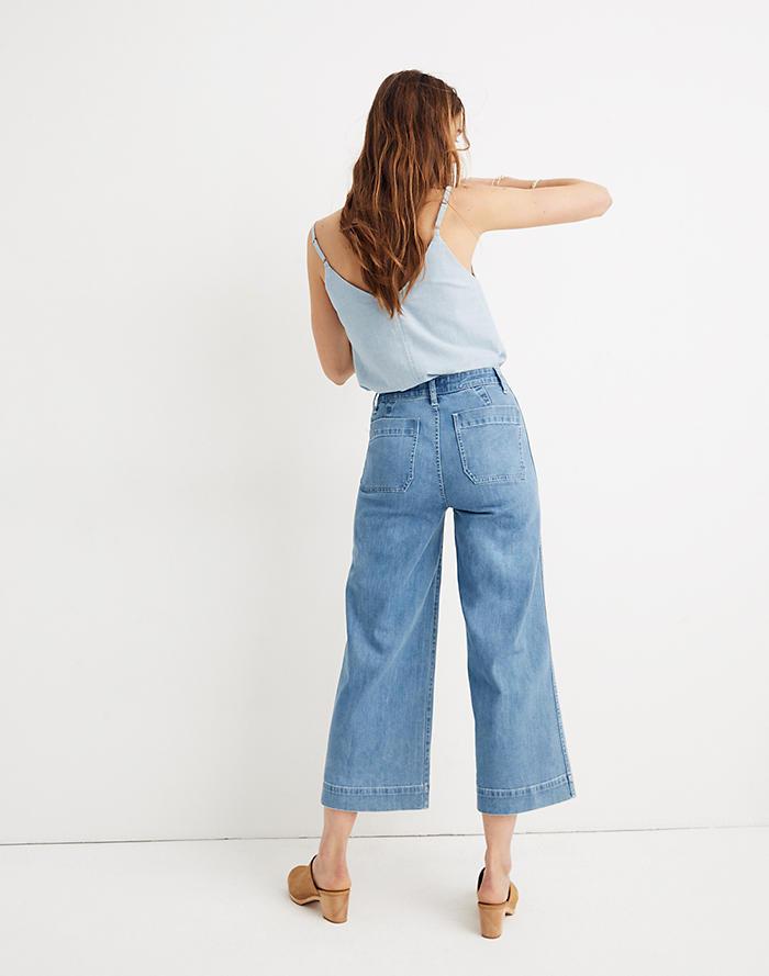 8dc56c63f0c01 Emmett Wide-Leg Crop Jeans in Langston Wash