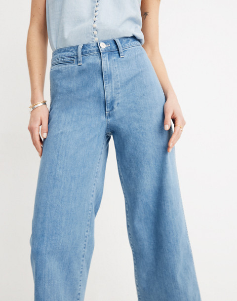 Emmett Wide-Leg Crop Jeans in Langston Wash in langston wash image 3