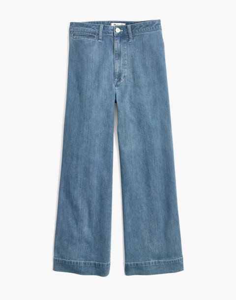Emmett Wide-Leg Crop Jeans in Langston Wash in langston wash image 4