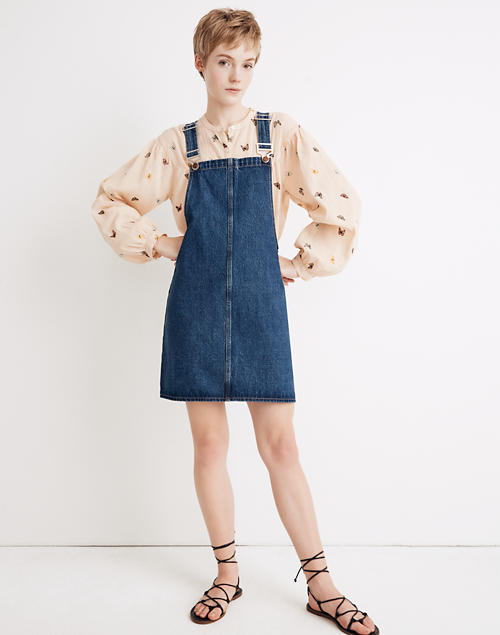 top-rated discount factory price exquisite style Denim Overall Mini Dress