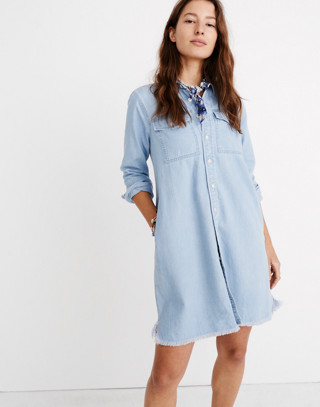 Denim Raw Hem Shirtdress by Madewell