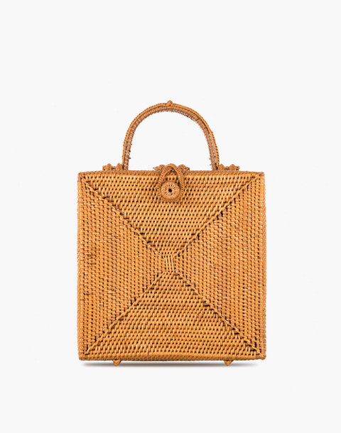 Bembien® Stella Rattan Box Bag in natural image 1