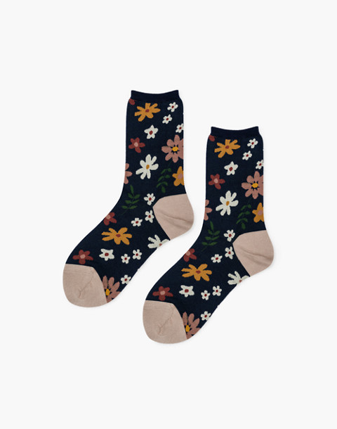 Hansel from Basel™ Two-Pack '70s Novelty Crew Socks in brown image 3