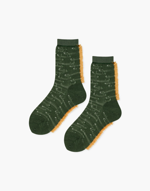 Hansel from Basel™ Two-Pack Dots and Texture Crew Socks in green image 2