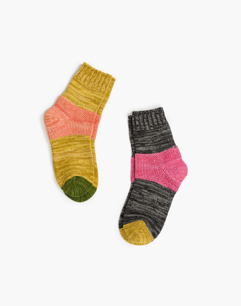 Hansel from Basel™ Two-Pack Tonal Dapple Crew Socks in patterned quilt image 1