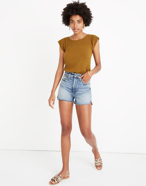 5d6f2ca6d The Perfect Jean Short: Tulip Hem Edition in null image 2