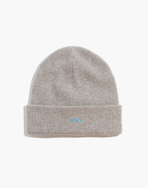 Madewell x charity: water Cuffed Beanie in monument multi image 1