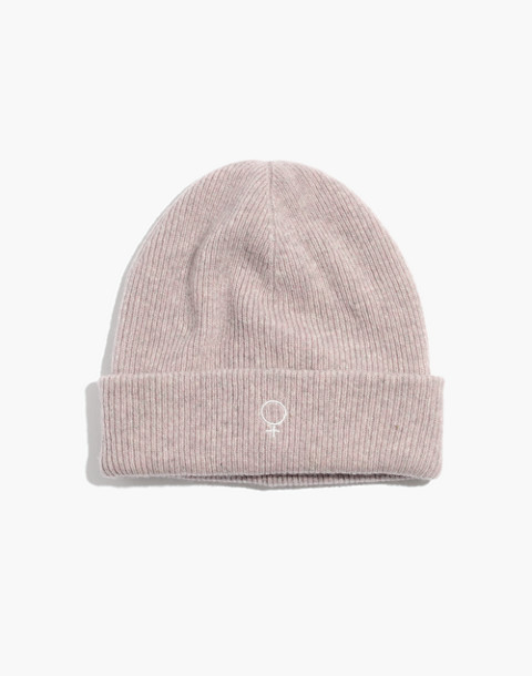 Madewell x Girls Inc. Cuffed Beanie in wisteria dove image 1