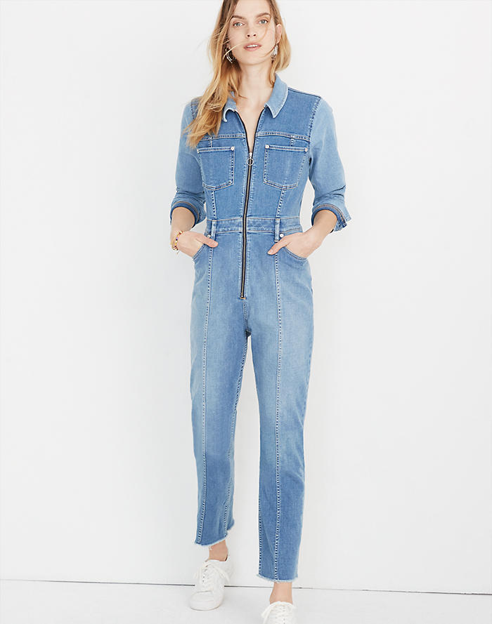 4ad361c5da6 Madewell x ISKO™ Pieced Denim Jumpsuit