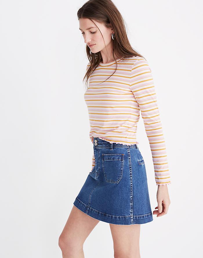 77226e13dc Stretch Denim A-Line Mini Skirt in Cassius Wash