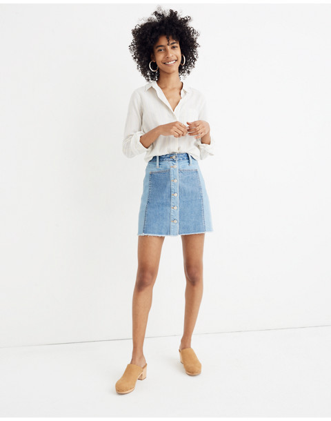 Madewell X Isko™ Patchwork Jean Skirt by Madewell