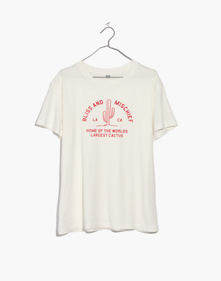 Bliss & Mischief® Bliss Home Of The World's Largest Cactus Destroyed Tee by Madewell