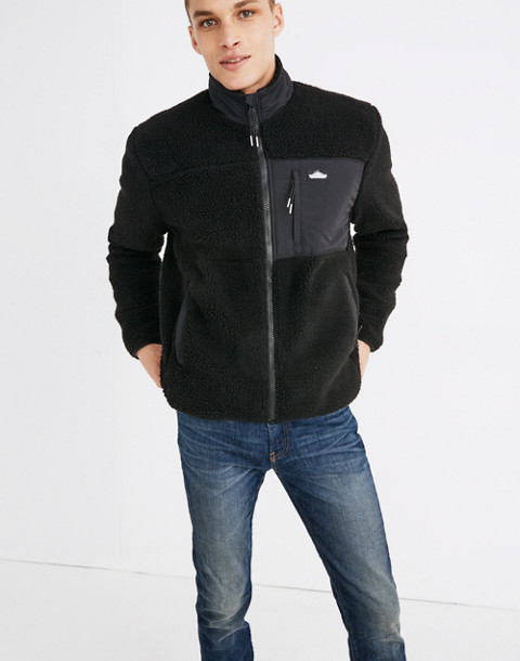 Penfield® Mattawa Sherpa Fleece Jacket in black image 3