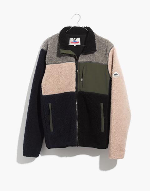 Penfield® Mattawa Sherpa Fleece Jacket in Colorblock in peacoat image 4