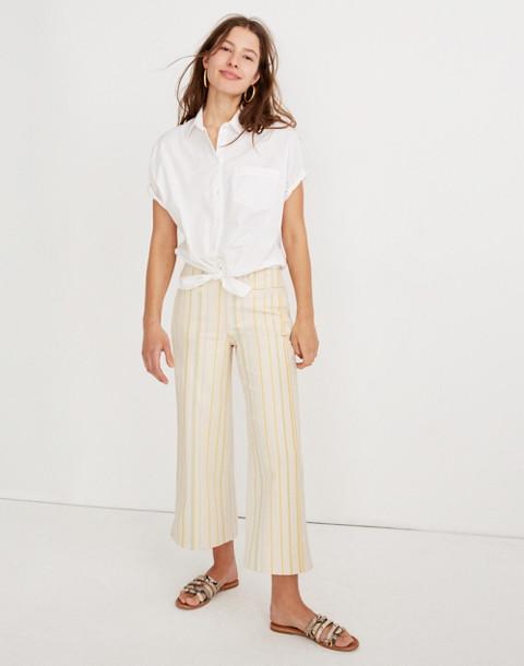 a6e9c84fb Shoptagr | Emmett Wide Leg Crop Pants In Stripe by Madewell
