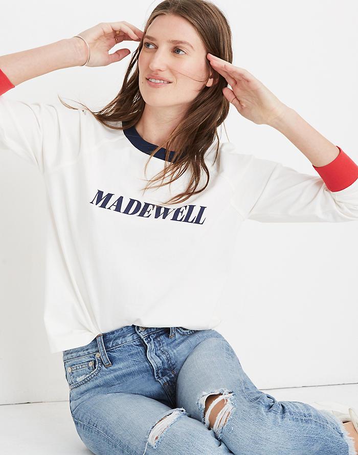 8b61d35263 Madewell Logo Raglan Tee