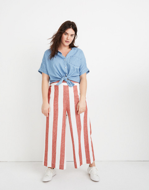 Huston Pull On Crop Pants In Bold Stripe by Madewell