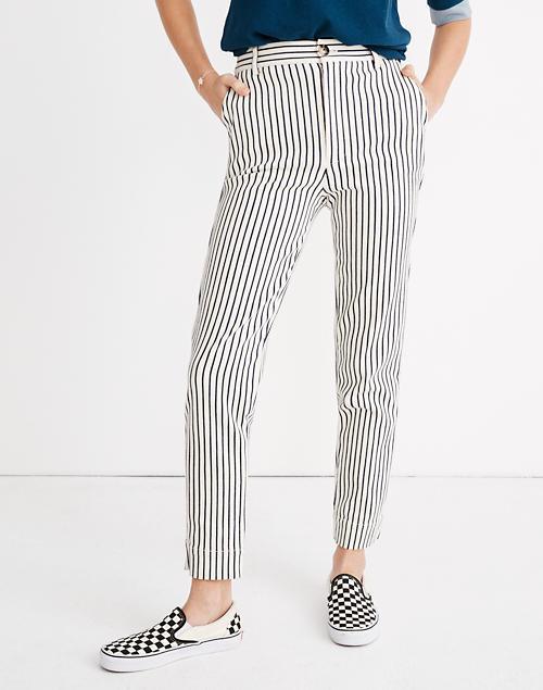 c5554e1bed Tapered Pants in Stripe in mel stripe deep navy image 1