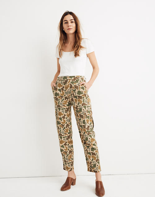 f5181004eccdb High-Rise Cargo Pants in Camo in vintage camo image 1