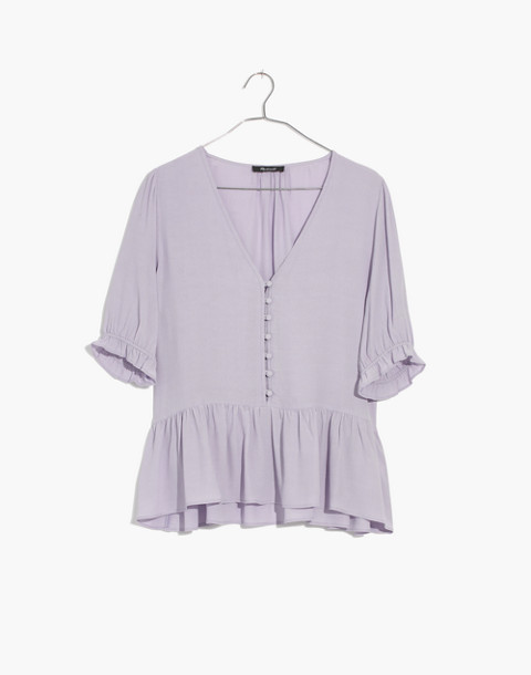 Courtyard Ruffle-Hem Top in sundrenched lilac image 1