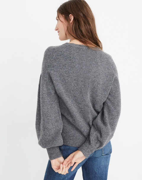 Gladwell Balloon-Sleeve Pullover Sweater in hthr flannel image 3
