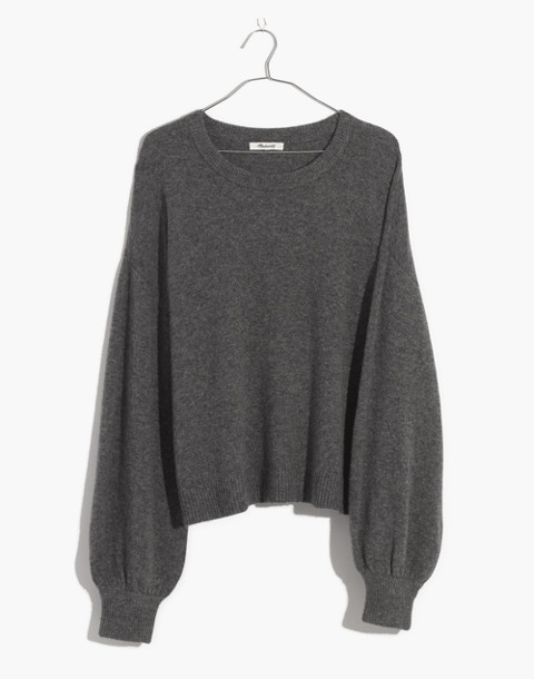 Gladwell Balloon-Sleeve Pullover Sweater in hthr flannel image 4