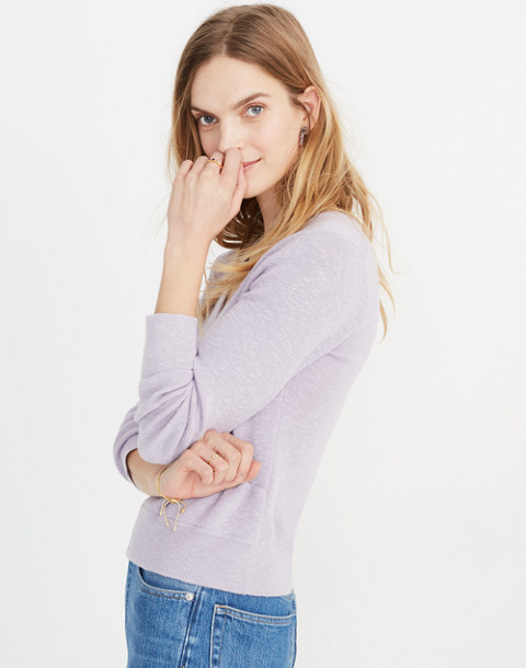 Wrap-Front Pullover Sweater in sundrenched lilac image 2