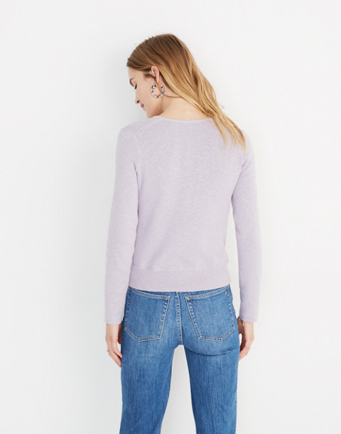 Wrap-Front Pullover Sweater in sundrenched lilac image 3