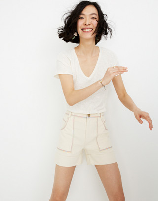 Rainbow Stitched Canvas Chase Shorts by Madewell