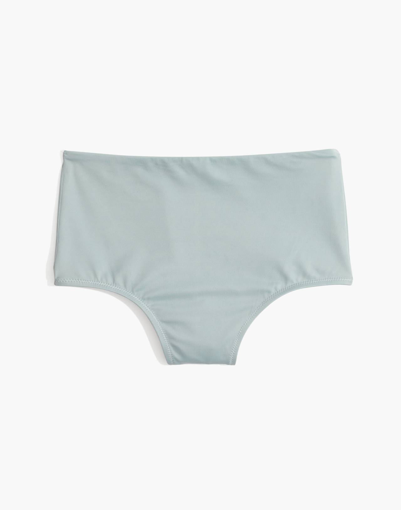 Madewell Second Wave Retro High-Waisted Bikini Bottom in blue horizon image 4