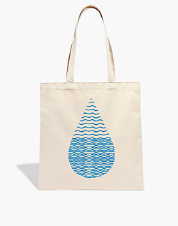 Madewell X Charity Water Reusable Canvas Tote Bag