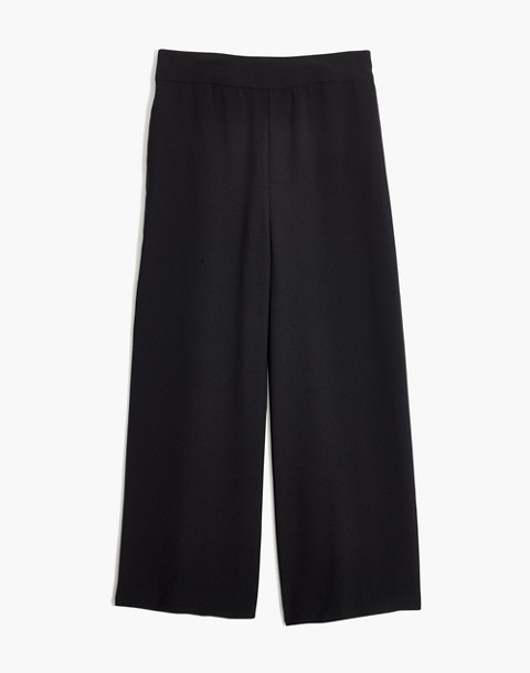 Tall Huston Pull-On Crop Pants in true black image 1