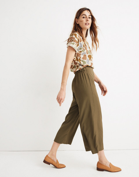Huston Pull-On Crop Pants in kale image 2