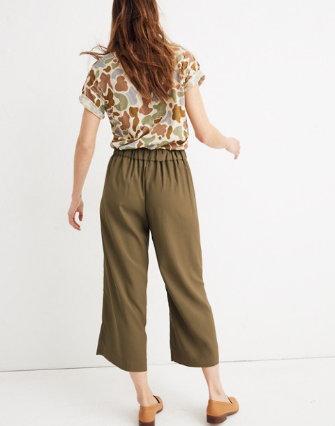 Huston Pull-On Crop Pants in kale image 3