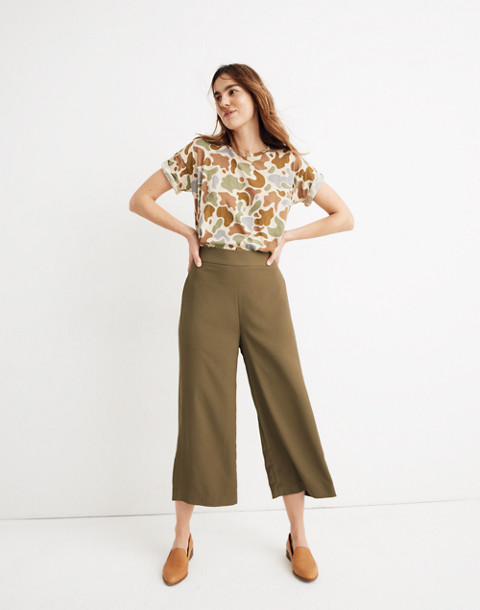 Huston Pull-On Crop Pants in kale image 1