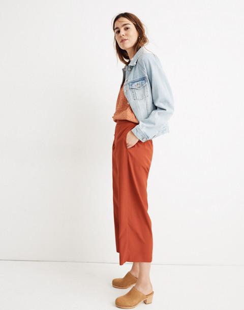 Tall Huston Pull-On Crop Pants in dark cinnabar image 2