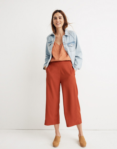 583d007e57 Tall Huston Pull-On Crop Pants in dark cinnabar image 1