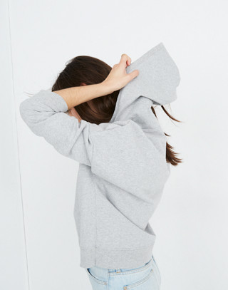 Madewell x charity: water Embroidered Hoodie Sweatshirt in hthr grey image 2
