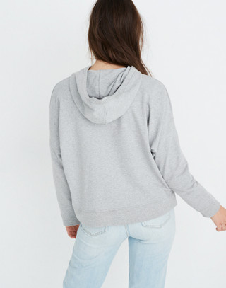 Madewell x charity: water Embroidered Hoodie Sweatshirt in hthr grey image 3