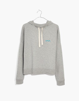 Madewell x charity: water Embroidered Hoodie Sweatshirt in hthr grey image 4