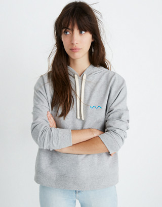 Madewell x charity: water Embroidered Hoodie Sweatshirt in hthr grey image 1
