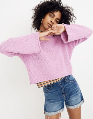 Brownstone Pullover Sweater in light petunia image 2